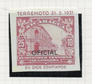 Nicaragua 1931 PROOF Issue Fine Mint Hinged 25c. Optd Official NW-14278