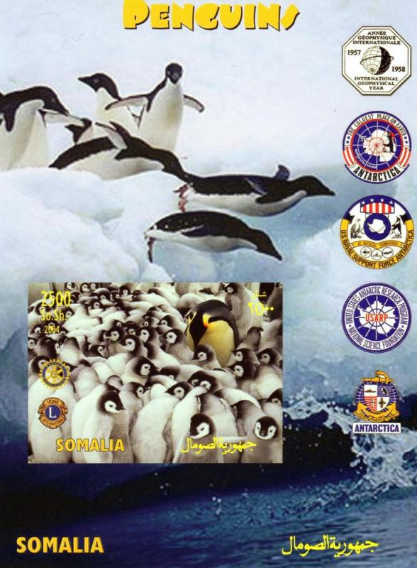 Penguins-IGY-Antartica-Rotary-Lions Int.SS Imper MNH Somalia