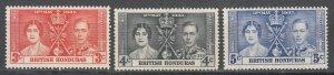 British Honduras - 1937 Coronation Sc# 112/114 - MLH  (7740E)