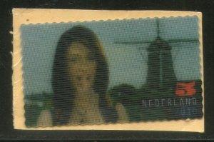 Netherlands 2010 Carice van Houten & Windmill Movie Actor 4D Stamp Used # 619