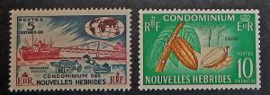 New Hebrides (Fr.) 112-13. 1963-65 5c-10c Pictorials, NH