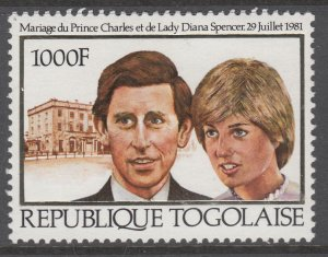 Togo 1105 Royal Wedding MNH VF
