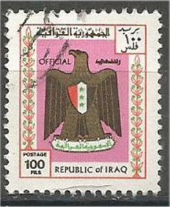IRAQ, 1975, used 100f, Arms Scott O325
