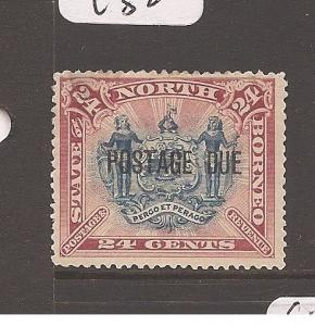 North Borneo Postage Due SG D11b MOG (3awt)