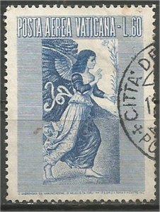 VATICAN CITY, 1956, used 60 l, Archangel Gabriel Scott C30