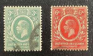 East Africa & Uganda Protectorates #41,42 Used