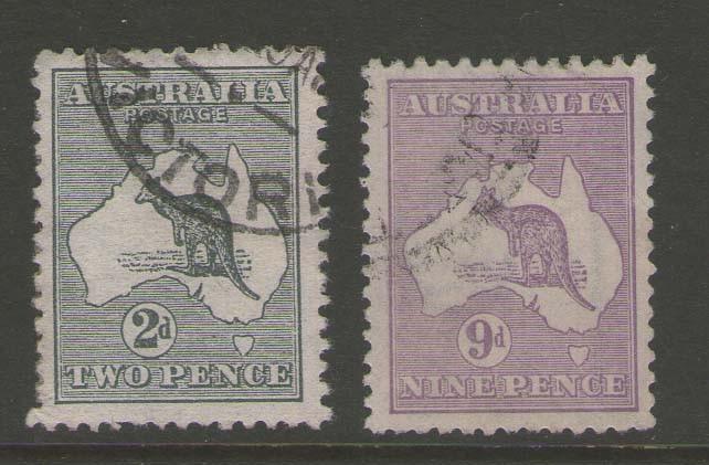 Australia kangaroos 1915 SG 24,39 FU