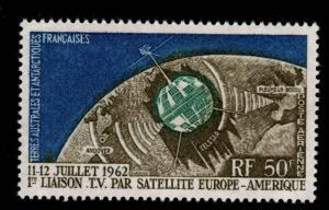 France Southern & Antarctic Territory Scott C5 MNH** 1962 Telstar stamp CV$29