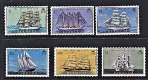 STAMP STATION PERTH - Bermuda #337-342 QEII Sailing Ships MH CV$8.10