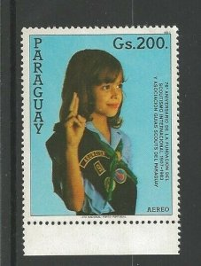 1984 Girl Scouts Paraguay 75th anniversary