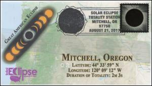 17-212, 2017, Total Solar Eclipse, Mitchell OR, Event Cover, Pictorial Cancel