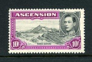 Ascension 1938 KGVI 10 Perf 13 ½ Sg 47 Postfrisch