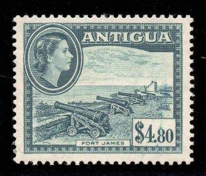 Antigua 1953 QEII $4.80 Fort James - Cannons SG 134 mint.