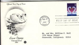 1997, Love Stamp-Eternal Love, PCS, FDC (E8429)