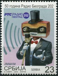 Serbia 2019. 50th Anniversary of Radio Belgrade 202 (MNH OG) Stamp