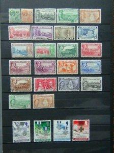 Montserrat KGV - QE2 range 1951 values to 24c MM 1971 Ex Services MNH