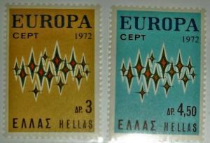 GREECE 1972 EUROPA CEPT SCOTT #1049-50