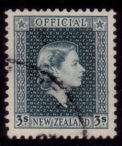 NEW ZEALAND 1954 3/- Official fine used. ACS cat $75.......................41292