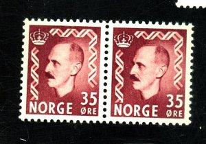 NORWAY 312 MINT PAIR VF OG NH Cat $40