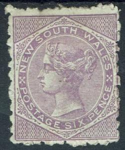 NEWOUTH WALES 1882 QV 6D WMK CROWN/NSW SG W40 PERF 10