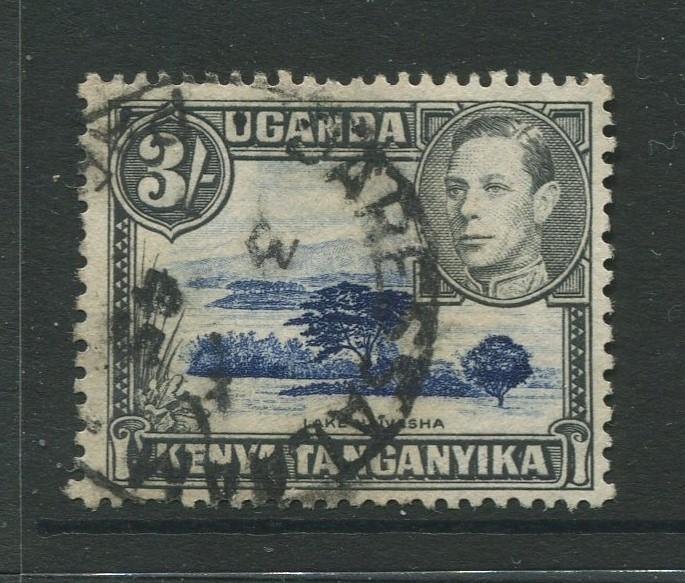 Kenya & Uganda - Scott 82 - KGVI Definitive -1950 - Used - Single 3/- Stamp