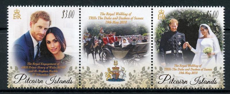 Pitcairn Isl 2018 MNH Prince Harry & Meghan Royal Wedding 2v Set Royalty Stamps