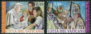 HERRICKSTAMP NEW ISSUES VATICAN CITY Sc.# 1596-97 50th Anniv. Synod of Bishops