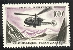 France #C36 Used CV$19.00 Alouette Helicopter