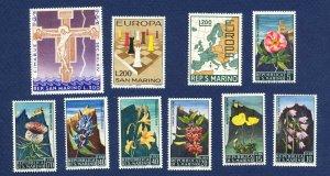 SAN MARINO - # 621 // 676  - VFMNH - issues of 1966-1967