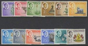 LESOTHO SG147/58 1968-9 DEFINITIVE SET TO 1r MTD MINT