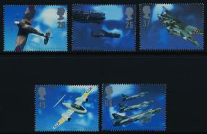 Great Britain 1758-62 MNH Aircraft, Aircraft Designers, Spitfire, Lancaster