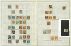 Denmark 1851-1963 Postally Used Hinged on Minkus Pages