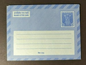 Mint Vintage India Inland Letter Card Postal Stationary Glasses Aux