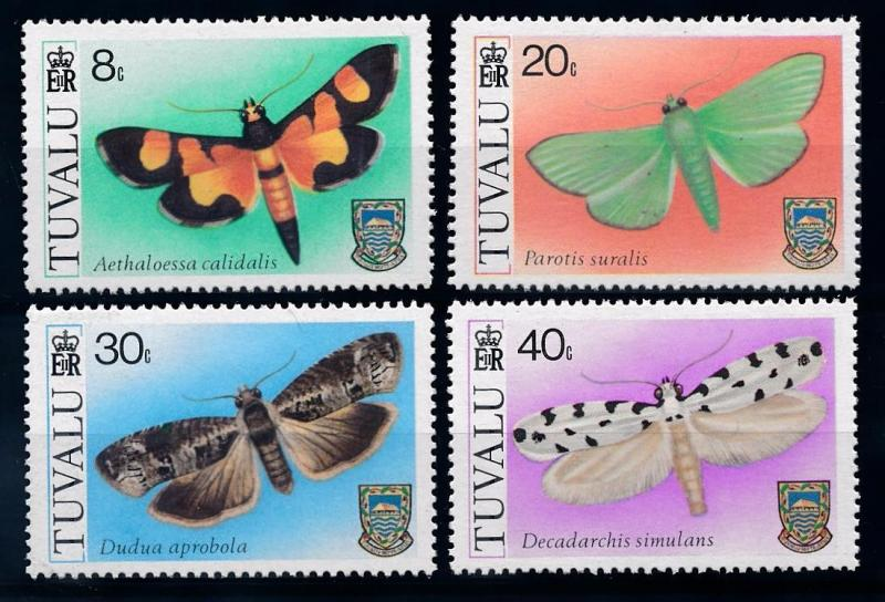 [65669] Tuvalu 1980 Insects Butterflies  MLH