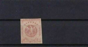 VENEZUELA 1863 IMPERF STAMP MOUNTED MINT ½ REAL RED CAT £55   REF 6263