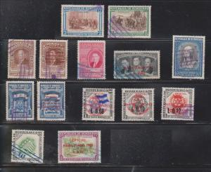 HONDURAS Lot Of 14 Used Stamps - Some With Overprints