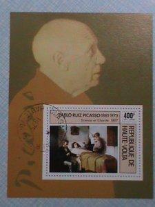 1973 REPUBLIC OF HAUTE-VOLTA : PABLO RUIZ PICASSO S/S