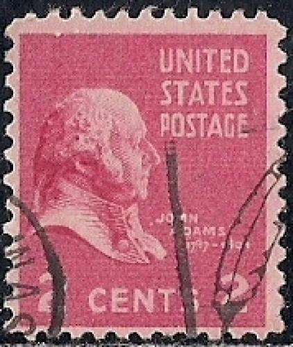 806 2 Cent John Adams Stamp Used F