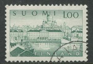 Finland - Scott 410 - South Harbour Helsinki -1963- Used - Single 1m Stamp