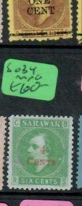 SARAWAK  (P2204B)  BROOK   4C/6C   SG  34   NGAII