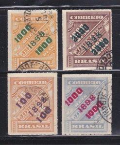 Brazil 126, 128-129, 135 U Surcharges