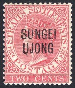 Malaya Sungei Ujong 1886 2c Rose Wmk CA SG 42 Scott 24 VLMM/MVLH Cat £24($32)