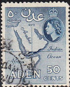 Aden #53a Used p. 12x13.5