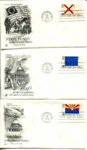 US FDC Scott #1633-1682 State Flags ArtCraft Cachet. 50 Covers. Free Shipping