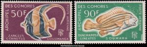 Comoro Islands Scott C23-C24 Mint never hinged.