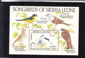 Sierra Leone: Songbirds, Sc #675, MNH, S/s (S18097)