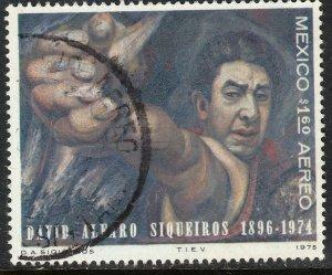 MEXICO C463 In Memoriam David Alfaro Siqueiros, painter. Used F-VF..(602)