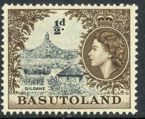 BASUTOLAND 1954 QE2 1/2d QILOANE HILL Pictorial Sc 46 MH