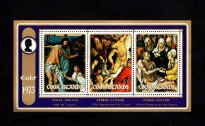 COOK IS - 1973 - EASTER - PAINTINGS - TITIAN - RUBENS - DURER - MINT NH S/SHEET!