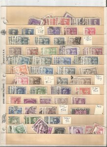SPAIN COLLECTION ON STOCK SHEET, MINT/USED